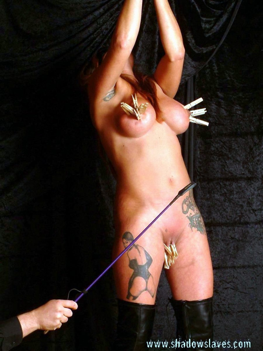 Breast whipping torture